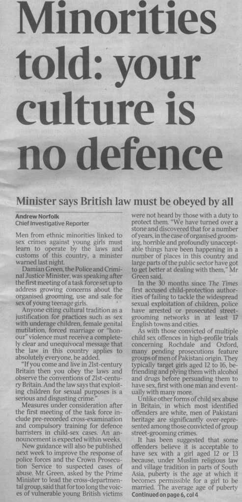 The Times 6 June 2013 FP