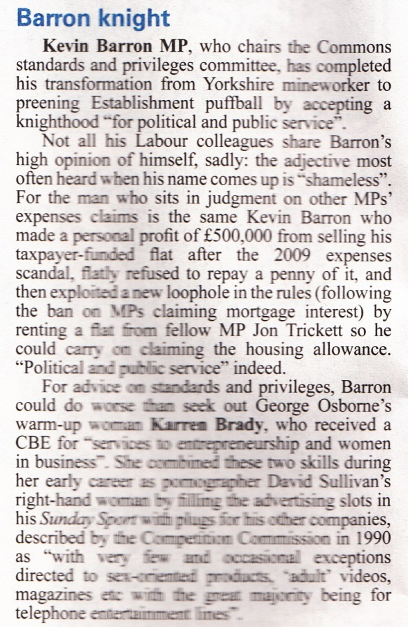 Private Eye No. 1357 Barron