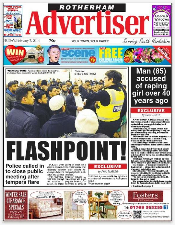 Advertiser front page 7th Feb 2014
