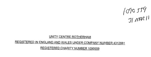 Unity Centre unaudited accounts 2011 2014-02-02