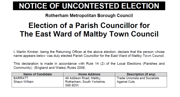 Uncontested Maltby 28_03_2014