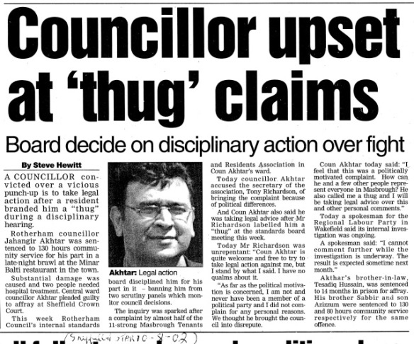 Councillor Upset At Thug Claims