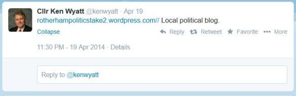 Ken Wyatt tweet 03_05_2014