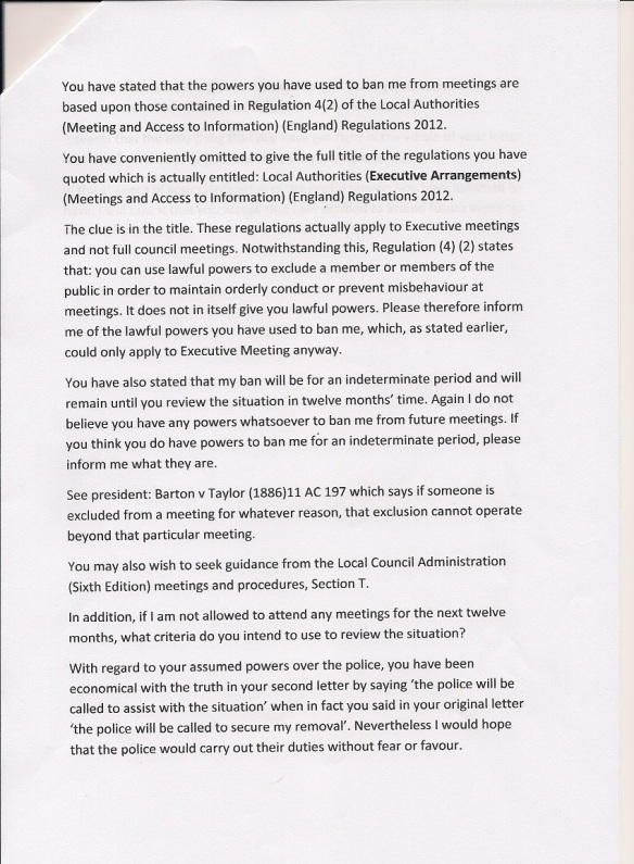Town Hall Response Page 2. 30.6.14