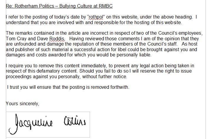 Bullying culture at RMBC