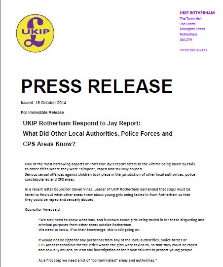 UKIP PR5 What do others know 10_2014 , 14